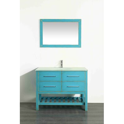 43.3 Single Bathroom Vanity Set with Mirror