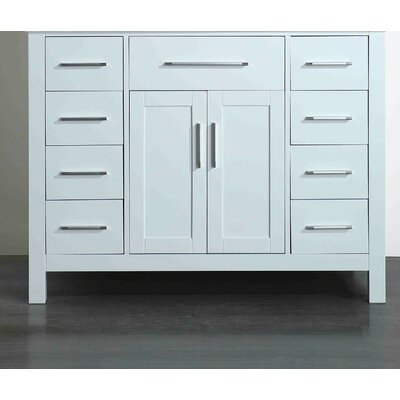 42.5 Single Bathroom Vanity Base Base Finish: White