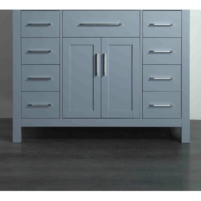 42.5 Single Bathroom Vanity Base Base Finish: Gray