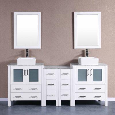 84 Double Vanity Set with Mirror