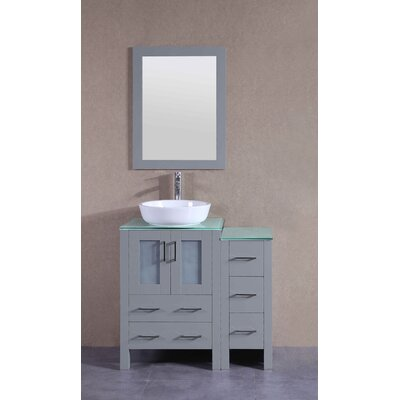 35.9 Single Vanity Set with Mirror