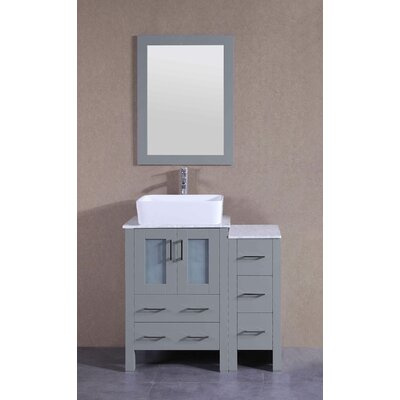 35.9 Single Vanity Set with Mirror