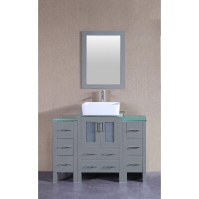 48.1 Single Bathroom Vanity Set with Mirror