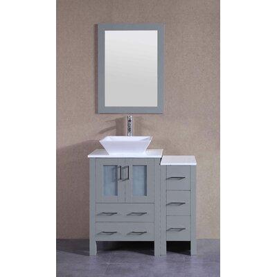 35.9 Single Bathroom Vanity Set with Mirror