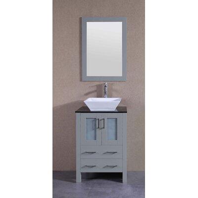 23.6 Single Bathroom Vanity Set with Mirror