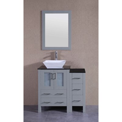 35.9 Single Bathroom Vanity Set with Mirror