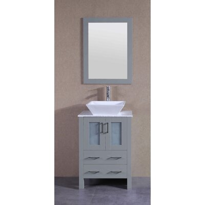23.6 Single Bathroom Vanity Set with Mirror