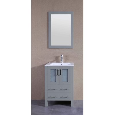 24.4 Single Bathroom Vanity Set with Mirror
