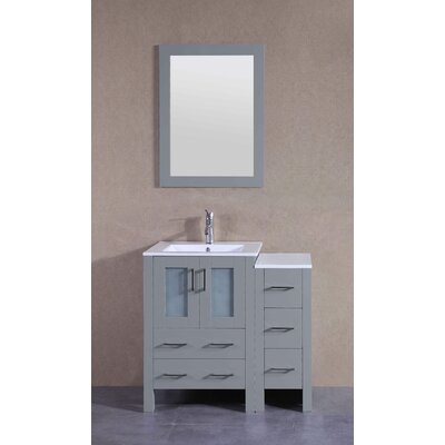 36.6 Single Bathroom Vanity Set with Mirror