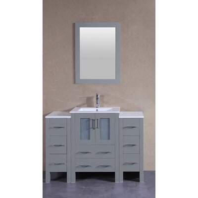 48.8 Single Bathroom Vanity Set with Mirror