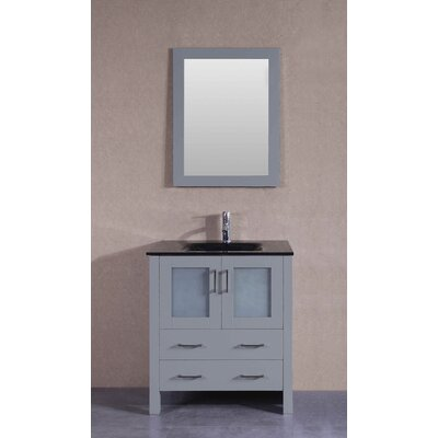 29.6 Single Bathroom Vanity Set with Mirror