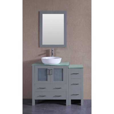 41.8 Single Bathroom Vanity Set with Mirror