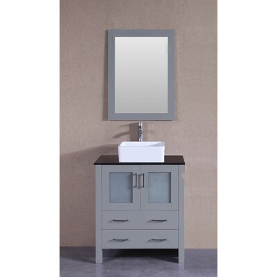 29.6 Single Bathroom Vanity Set with Mirror