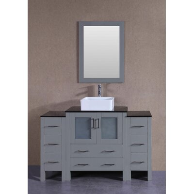 54 Single Bathroom Vanity Set with Mirror