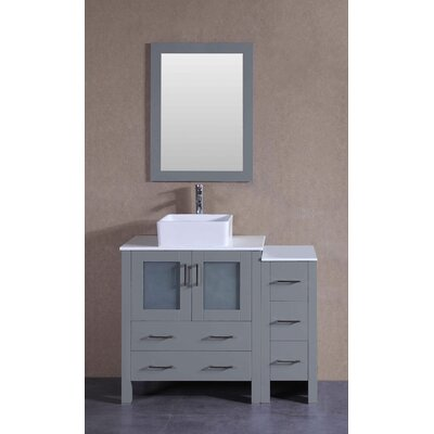 41.8 Single Bathroom Vanity with Mirror