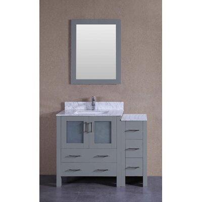 41.8 Single Bathroom Vanity with Mirror