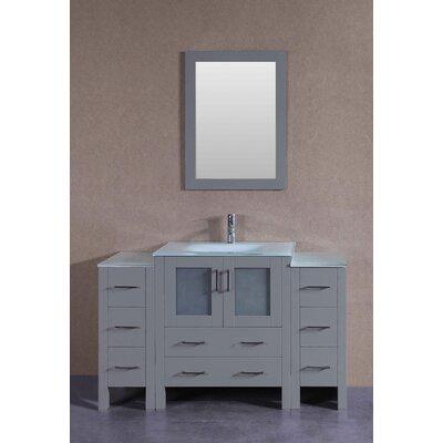 54 Single Bathroom Vanity with Mirror