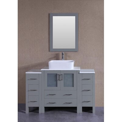 54 Single Bathroom Vanity with Mirror