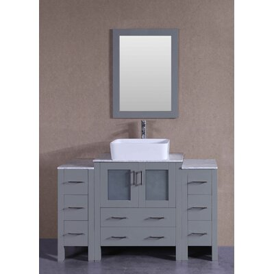 54 Single Vanity Set with Mirror