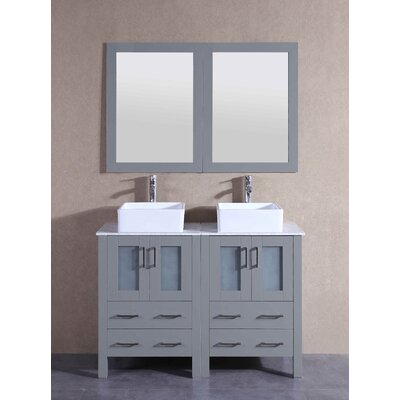 47.3 Double Vanity Set with Mirror