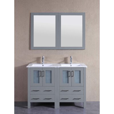 48.8 Double Vanity Set with Mirror