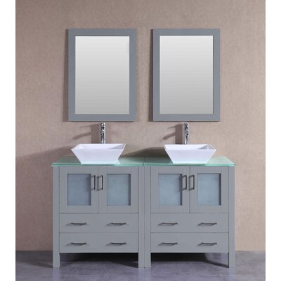 59.1 Double Vanity Set with Mirror