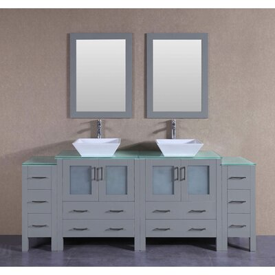 83.5 Double Vanity Set with Mirror
