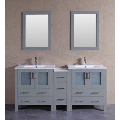 71.7 Double Vanity Set with Mirror