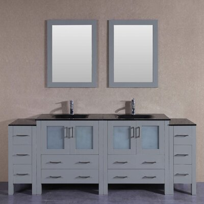 83.5 Double Vanity Set with Mirror