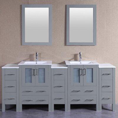 85.5 Double Vanity Set with Mirror
