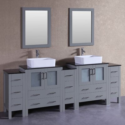 95.7 Double Vanity Set with Mirror