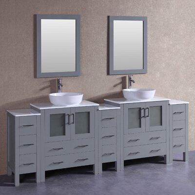 95.7 Double Vanity Set with Mirror