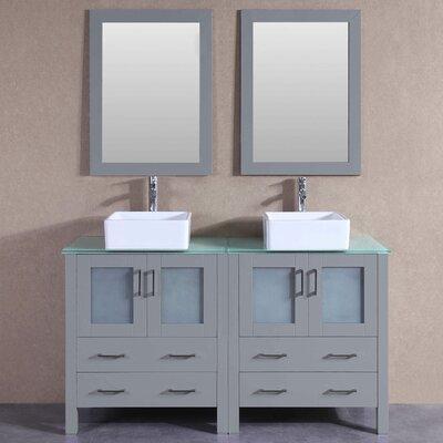 59.1 Double Vanity Set with Mirror