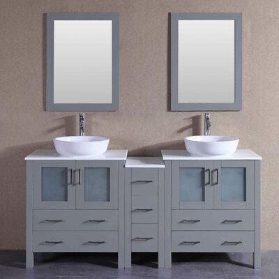 71.3 Double Vanity Set with Mirror 1
