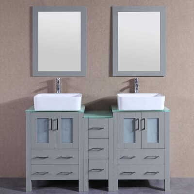 59.5 Double Vanity Set with Mirror