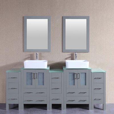 83.9 Double Vanity Set with Mirror