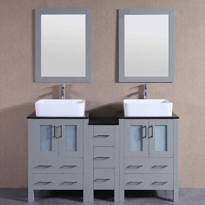 59.5 Double Vanity Set with Mirror