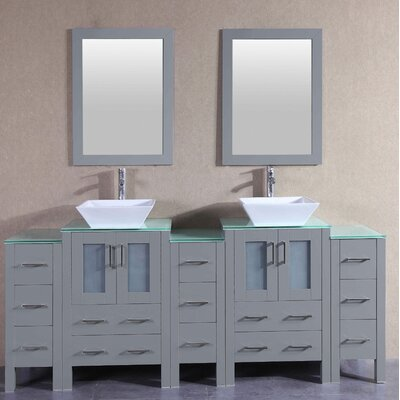 83.9 Double Vanity Set with Mirror