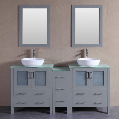 71.3 Double Vanity Set with Mirror