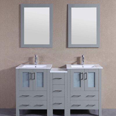 61 Double Vanity Set with Mirror