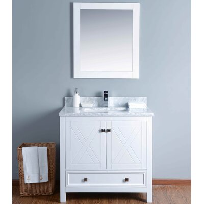 "36"" Single Bathroom Vanity Set with Mirror KWH5036CMU"