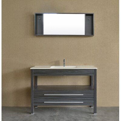 48 Single Contemporary Vanity Set with Mirror