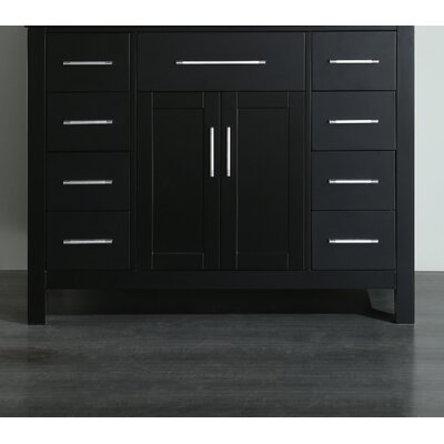 42.5 Single Bathroom Vanity Base Base Finish: Black