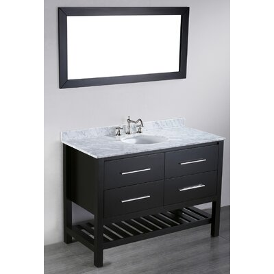 Cockrell 47 Single Bathroom Vanity Set with Mirror