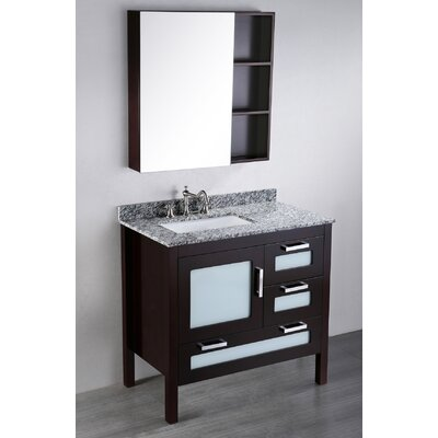 Netto 37 Single Bathroom Vanity Set with Mirror