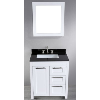 Hopewell 30 Single Bathroom Vanity Set with Mirror