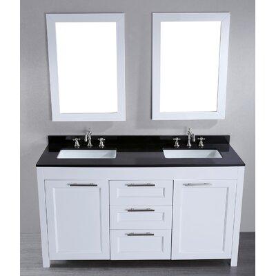 Hopewell 60 Double Bathroom Vanity Set with Mirror