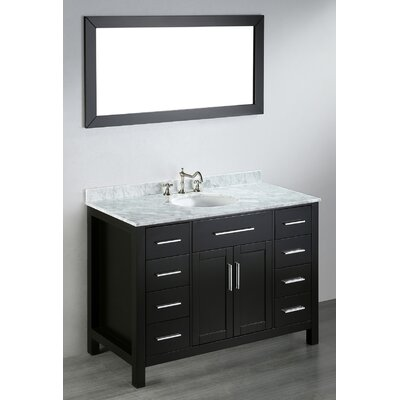 Teixeira 47 Single Bathroom Vanity Set with Mirror