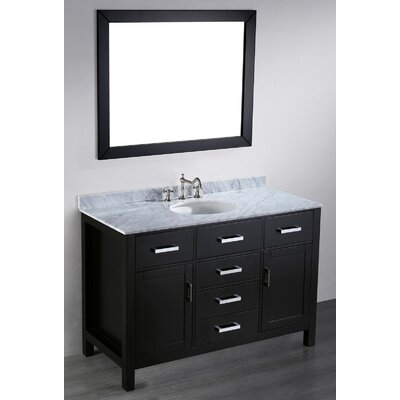Teixeira 49 Single Bathroom Vanity Set with Mirror