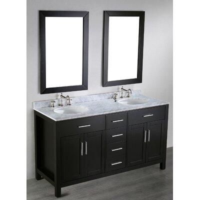 Teixeira 60 Double Bathroom Vanity Set with Mirror